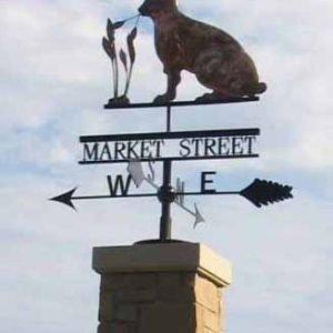 Market Street Rabbit Weathervane