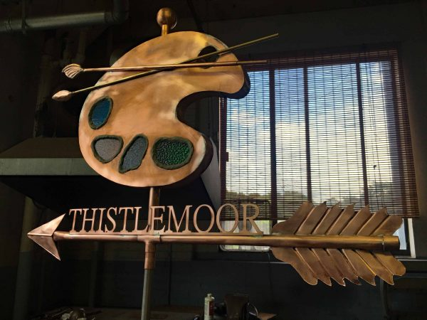 Artist Pallet with Name Weathervane