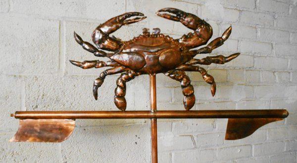 Bronze Patina Blue Crab
