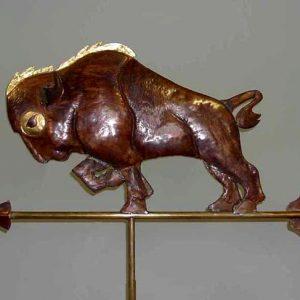 Buffalo Mascot Weathervane