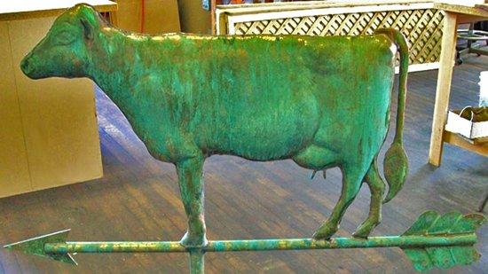Cow Weathervane Verdigris Finish