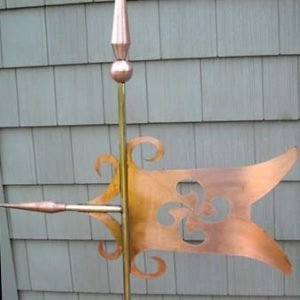 Decorative Cone Banner Weathervane
