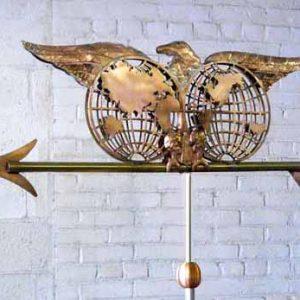 Eagle Globe Logo Weathervane