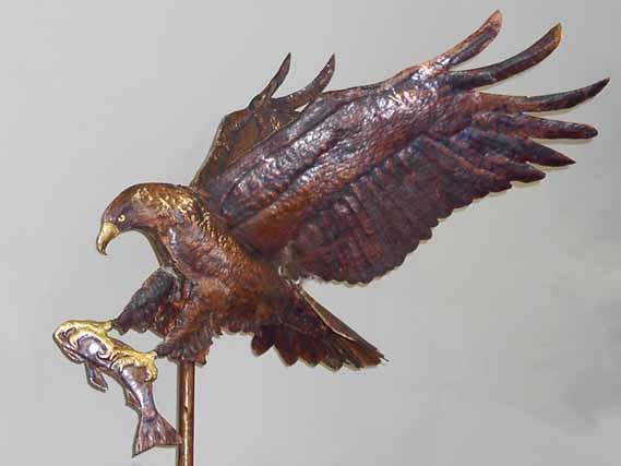 Eagle and Fish Weathervane