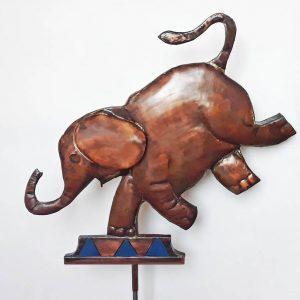 Circus Elephant weathervane