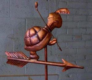 Golfing Turtle Standard Weathervane