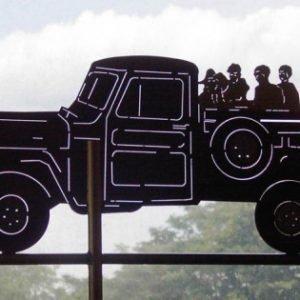 Kids on Truck Weathervane