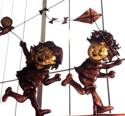 Kids with Kites Weathervane