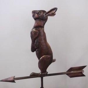 Large Curious Copper Rabbit Weathervane