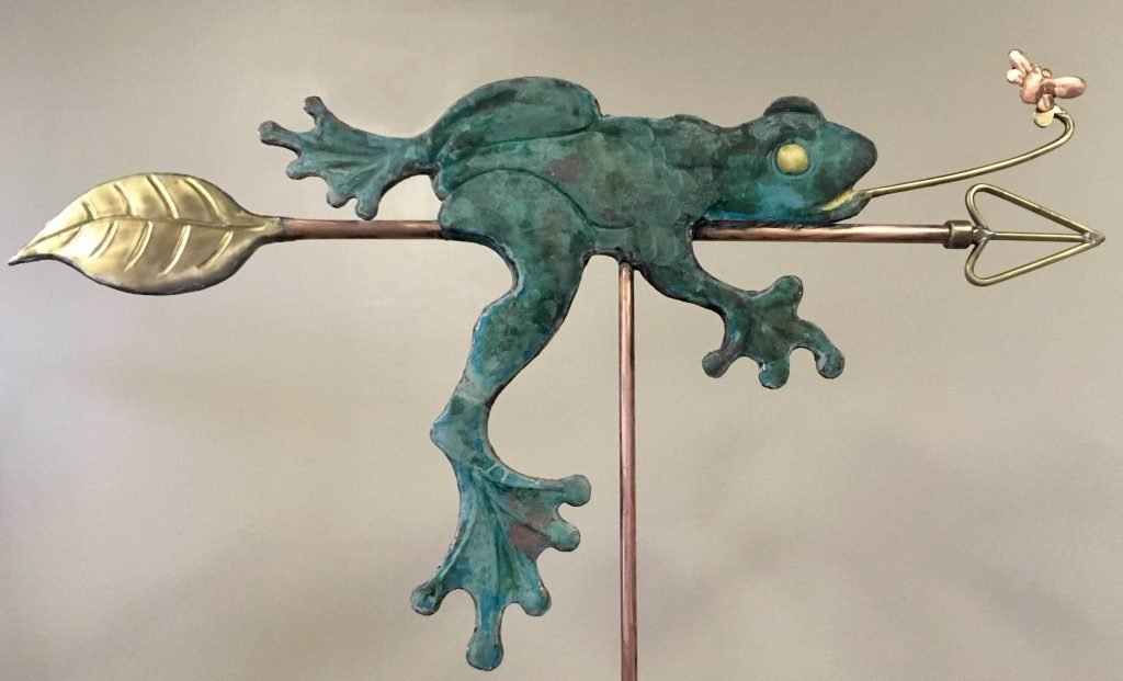 Lazy Frog with Fly Weathervane