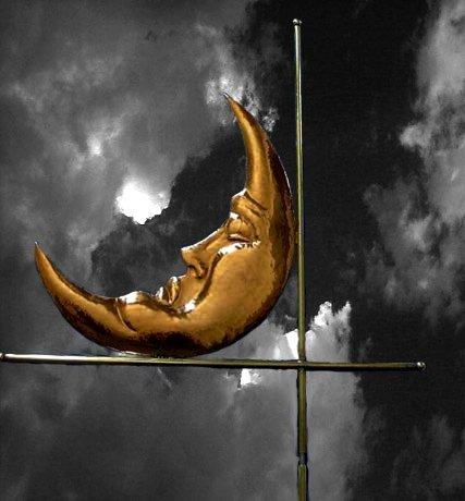 Man In the Moon Weathervane
