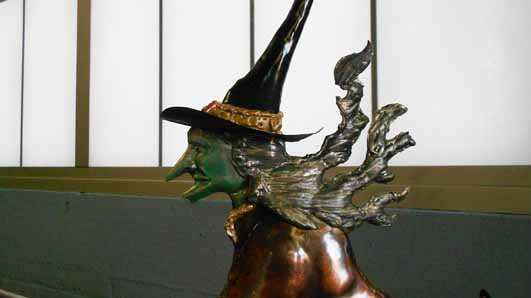 Witch and Black Cat 3 Weathervane
