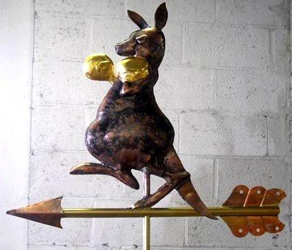 Boxing Kangaroo Weathervane