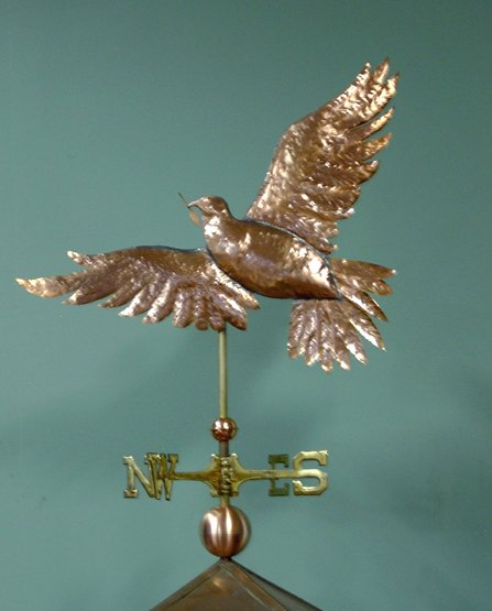 Dove with Olive Branch Weathervane