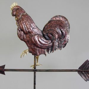 Fancy Feather Rooster Weathervane