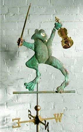 Frog and Violin Weathervane