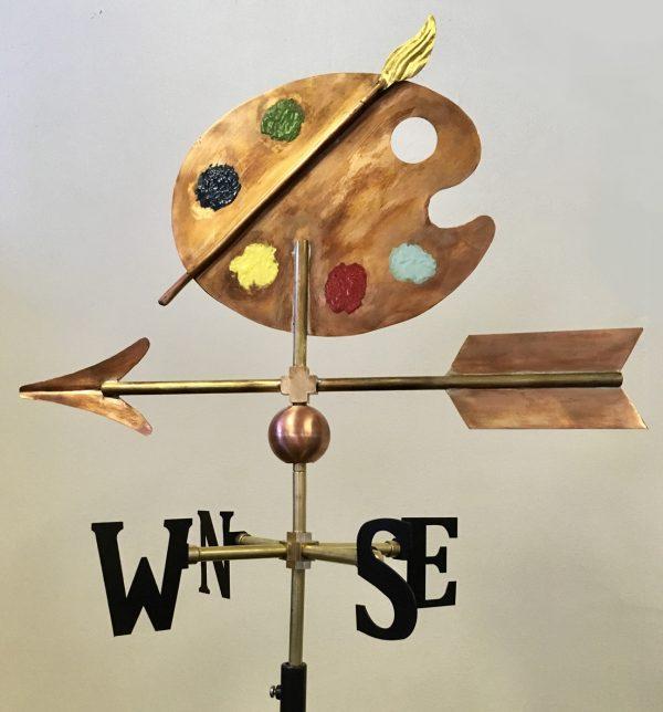 La Petite Artist Palette Weathervane