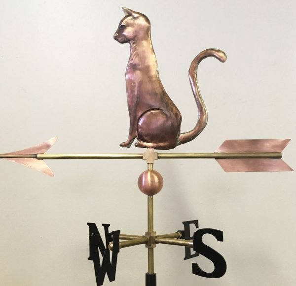 La Petite Sleek Cat Weathervane