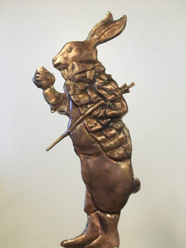 La Petite Rabbit with Cane 3 Weathervane