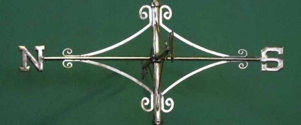 Brass Scroll Compass