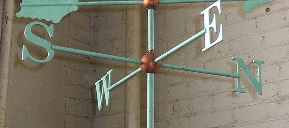 Copper and Verdigris Compass