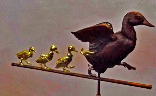 Gilded Ducklings 2 Weathervane